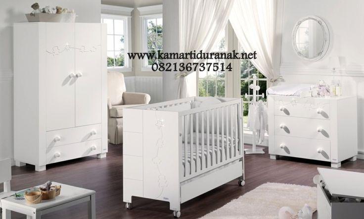 Model Set Kamar Bayi Putih Modern Murah
