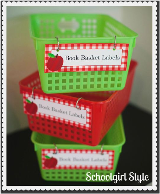 Apple Theme Classroom Bins♥