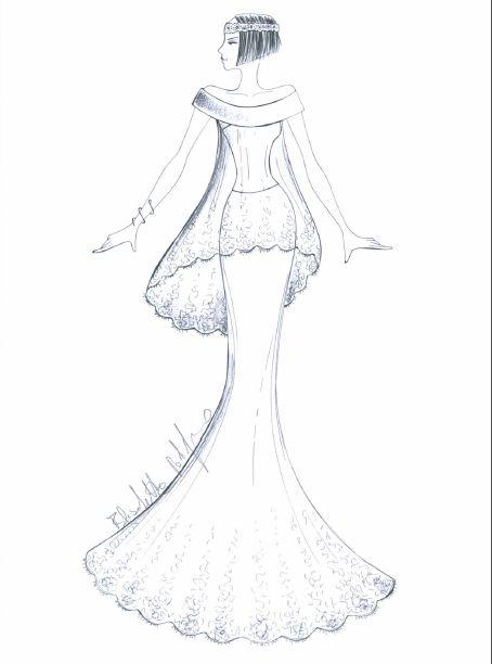 Direttamente dalla collezione 2015 di Elisabetta Polignano: un bozzetto dal quale nascerà un meraviglio abito da sposa.  #wedding #weddingdress #sketch