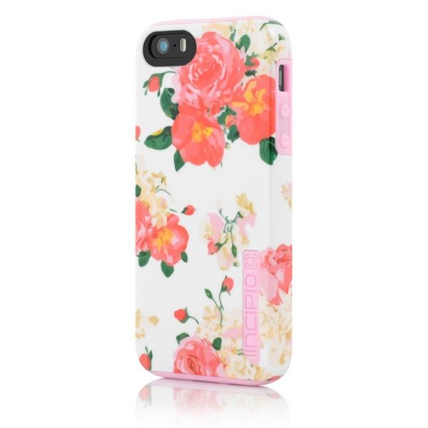 DualPro Floral Print Case for iPhone 5-White