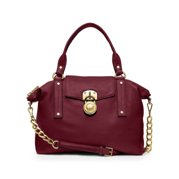 #CelebrateWith Michael Kors Hamilton Slouchy Medium Red Satchels Shows Your Real Life And You Will Enjoy Your Life!