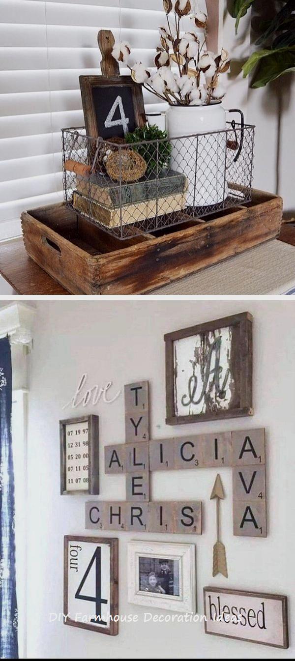 10 Easy Diy Farmhouse Wooden Craft Ideas Diyhomedecor Farmhouse