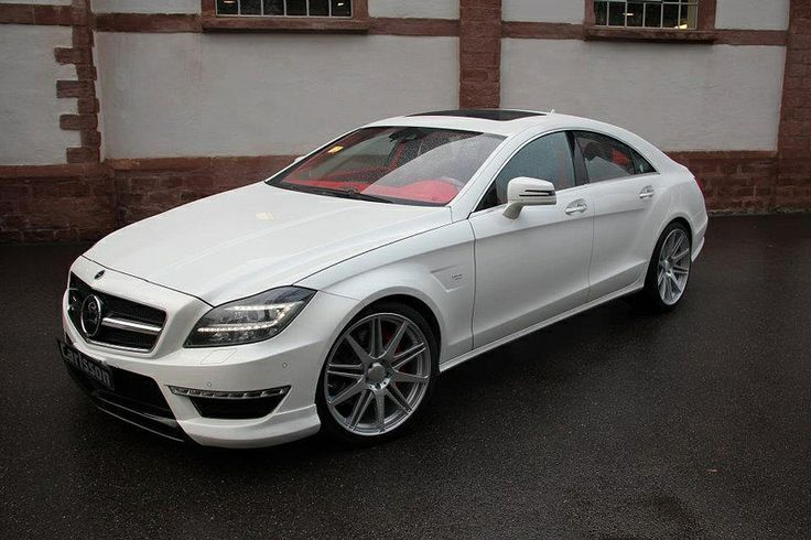Kates car Mercedes-Benz CLS But it's a two door and it's silver not white.