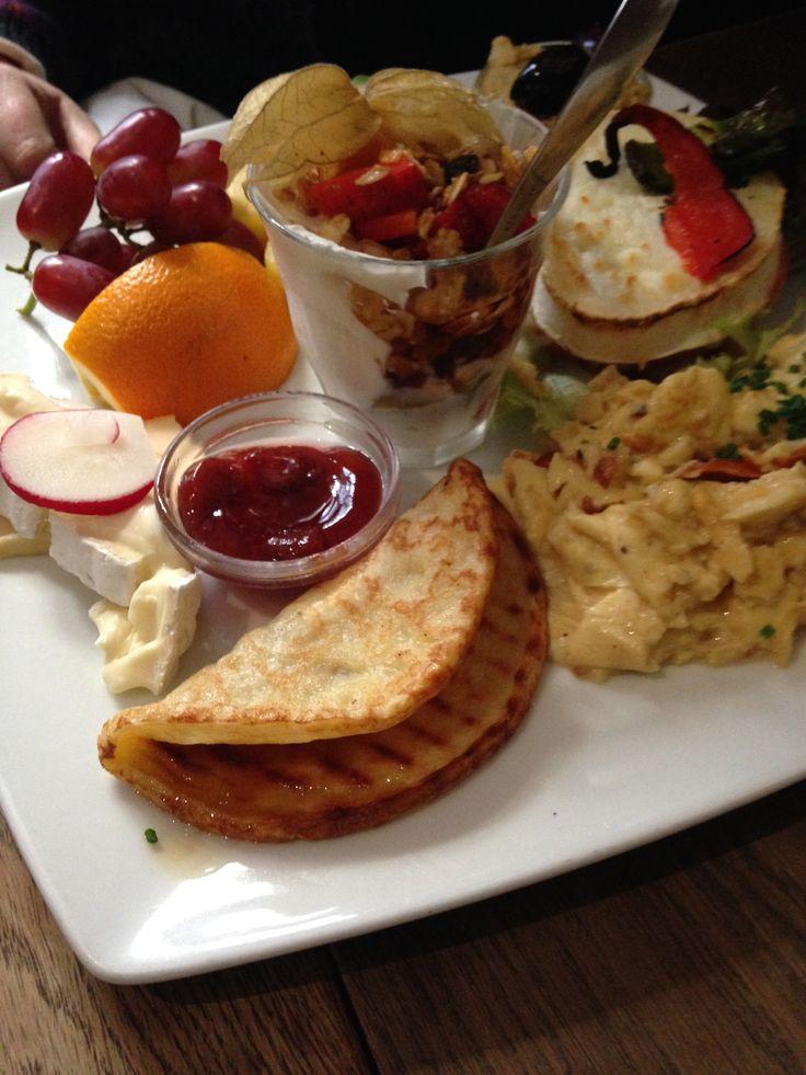 Vegetarian brunch from Paludan Cafe in Copenhagen, DK with ...