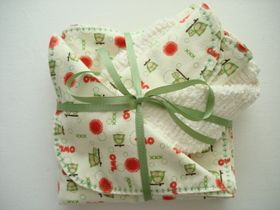 3 yards of flannel = thoughtful baby gift