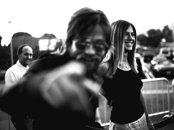 Brad Pitt avec Jennifer Aniston à Los Angeles en août 2002.
