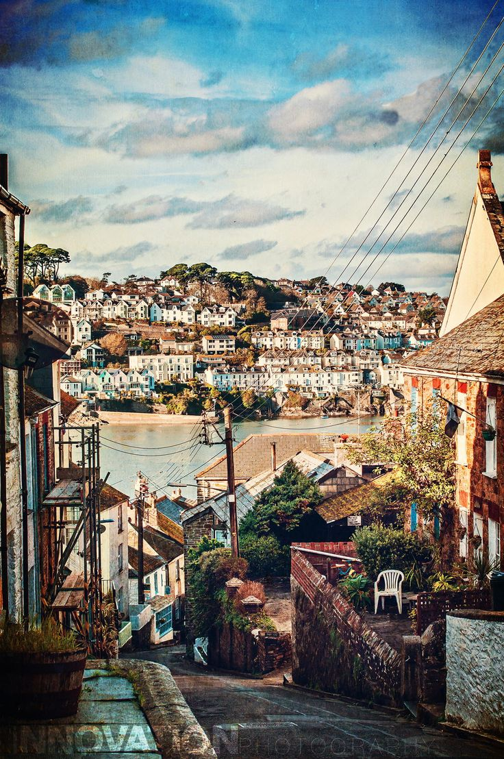 View to Fowey from the streets of Polruan, Cornwall, England, via 500px