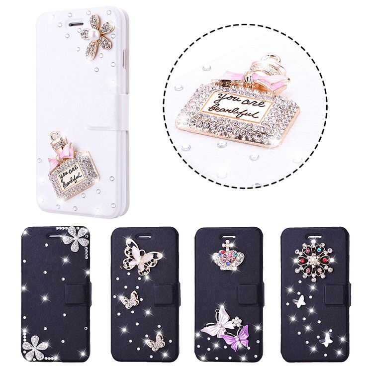 >> Click to Buy << SmartPhone 3D Rhinestone Case For Samsung galaxy A5 A7 2016 Bling Glitter Diamond Crystal girl Women  PU Leather Flip Cover case #Affiliate