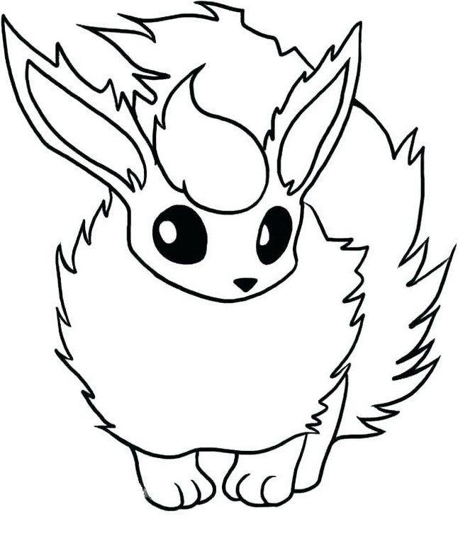 Easy Pokemon Drawing Flareon Pokemon Coloring Sheets Pokemon Coloring Pokemon Flareon