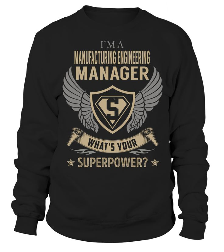 Manufacturing Engineering Manager Superpower Job Title T-Shirt #ManufacturingEngineeringManager
