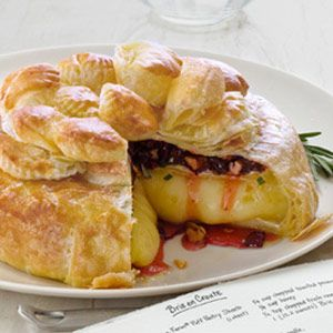 """Dried Cherries, Pecans, Rosemary Brie en croute - One Pinner wrote, """"this is SO DELISH, My friends and family rave over it."""""""