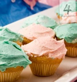 CLEVER CUPCAKES Makes 12. From Cassandra Van Breugal, Singapore. 1 cup self rising flour 400g (14 oz.) condensed milk 1 egg 1/3 Cup (75g) softened butter Preheat oven 180C/360F. Sift flour into a bowl and add remaining ingredients, beat with an electric mixer for two minutes until pale and fluffy. Line a cupcake tin with papers. Evenly scoop mixture across each and bake for 12 minutes until light golden brown. Optional: Add a teaspoon of vanilla essence to the batter.