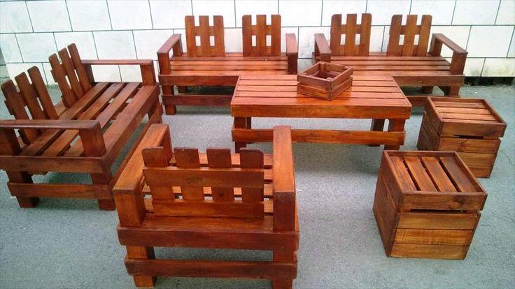 Gorgeous Pallet Outdoor Furniture Set   99 Pallets