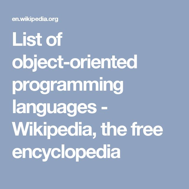 List of object-oriented programming languages - Wikipedia, the free encyclopedia
