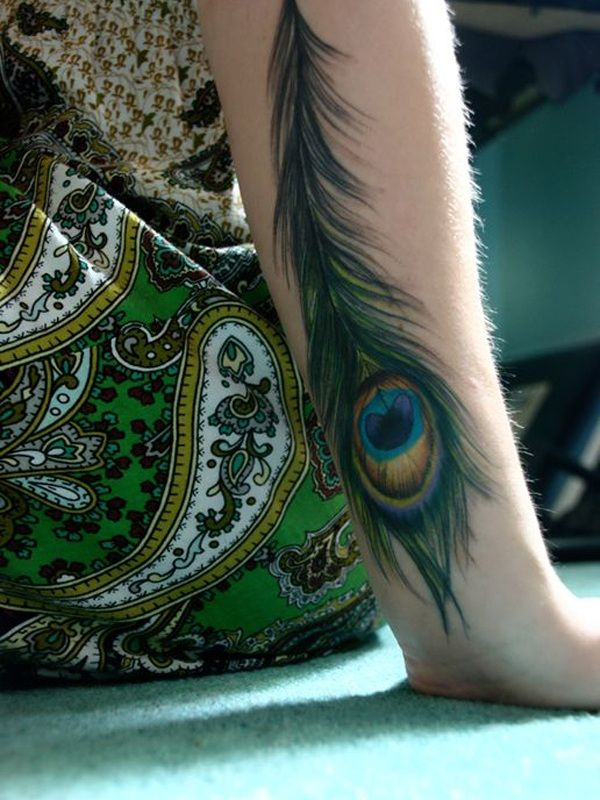 Tattoo-Journal.com - THE NEW WAY TO DESIGN YOUR BODY | 30 Fabulous Peacock Feather Tattoo Designs and Meaning | http://tattoo-journal.com