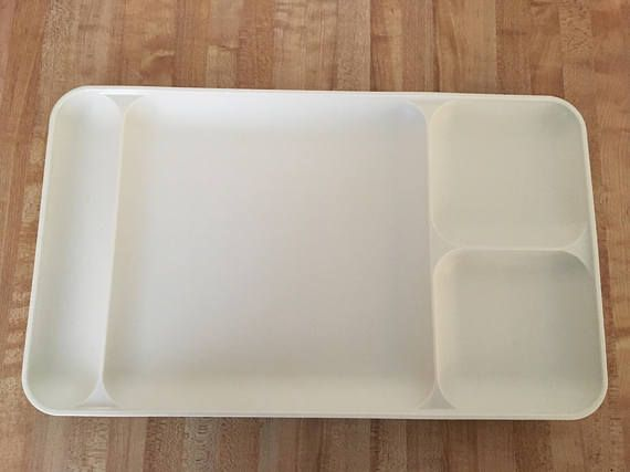 Tupperware Divided Trays Set Of 3 Food Dining Craft Plastic Sectioned