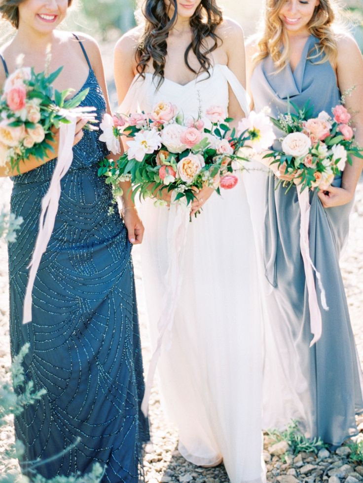 Gorgeous mix and match bridesmaid ideas: Photography : Melissa Jill Photography Read More on SMP: http://www.stylemepretty.com/2016/05/23/mix-match-style-inspiration-for-bridesmaids/