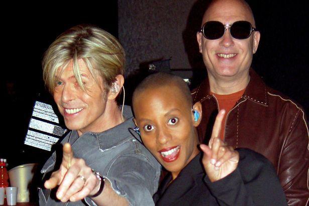 David Bowie, Gail Ann Dorsey and Mike Garson
