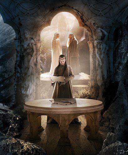 The Hobbit (2012): Gandalf, Galadriel and Elrond Art