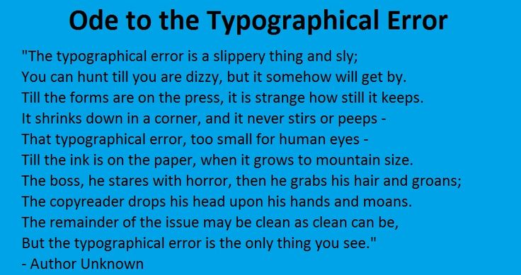 ode to the typo
