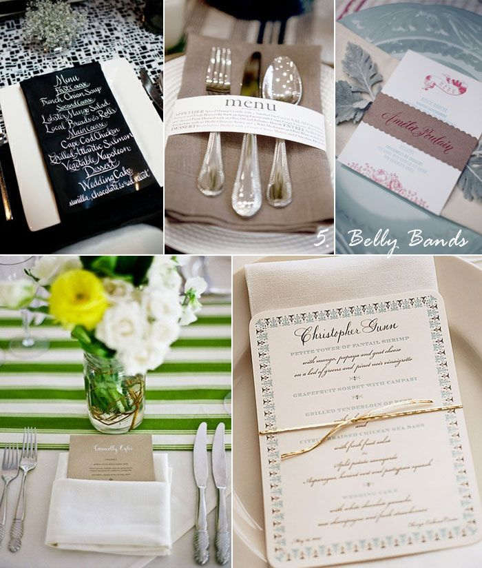 Creative Wedding Place Card Ideas: 17 Best Images About Napkin Bands On Pinterest