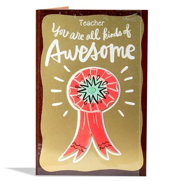 Lovely Teacher Greeting Card Teacher You Are All Kinds Of Awesome, Seriously You Are ! The Sweet Kind. The Fun Kind. The Cool Kind. The Happy Kind. The Kind Kind. You Are Undoubtedly The Best Kind..   Rs. 90   Shop Now   https://hallmarkcards.co.in/collections/teachers-day/products/gift-for-teachers-day