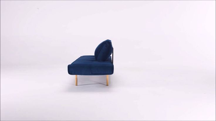 Zeal daybed by Innovation Living. Velvet Royal Blue and brass legs