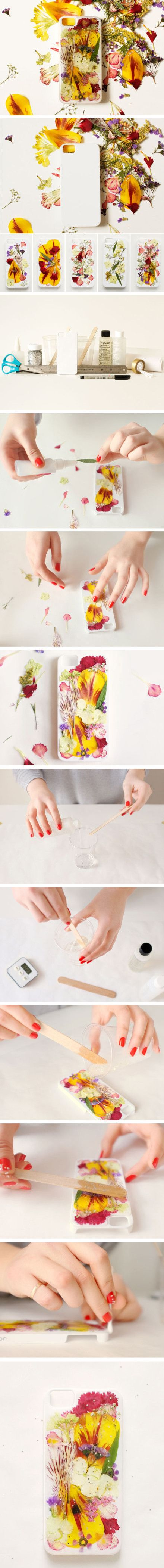 diy dried phone cases