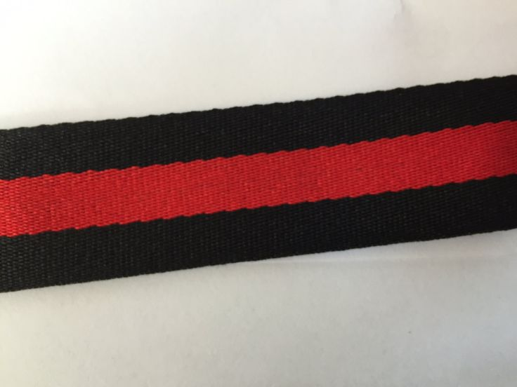 1.2 in - 3 cm grosgrain ribbon, striped grosgrain ribbon, polyester ribbon, belt ribbon, black and red stripe ribbon by NoaElastics on Etsy