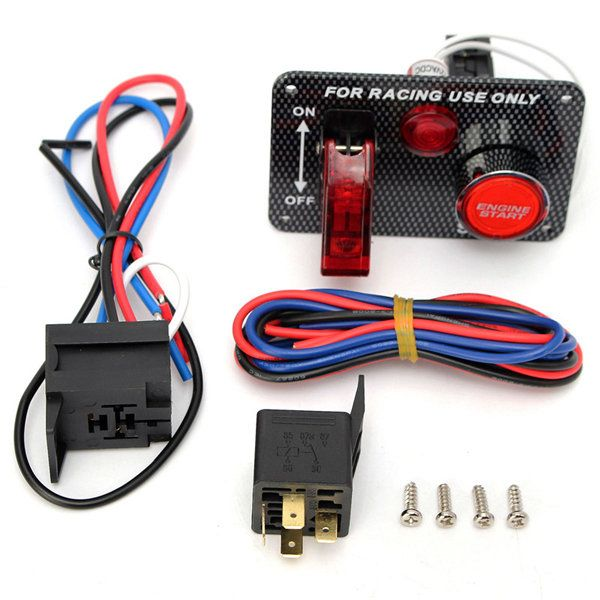 12v Racing Car Engine Start Push Button Toggle Ignition Switch Panel