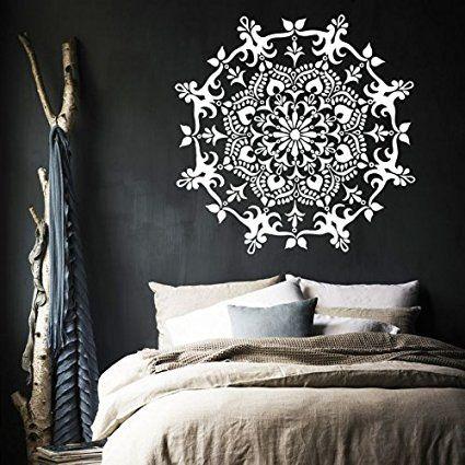 Vinyl Wandtattoo Mandala marokkanisches Muster Meditation Yogastudio Zen…