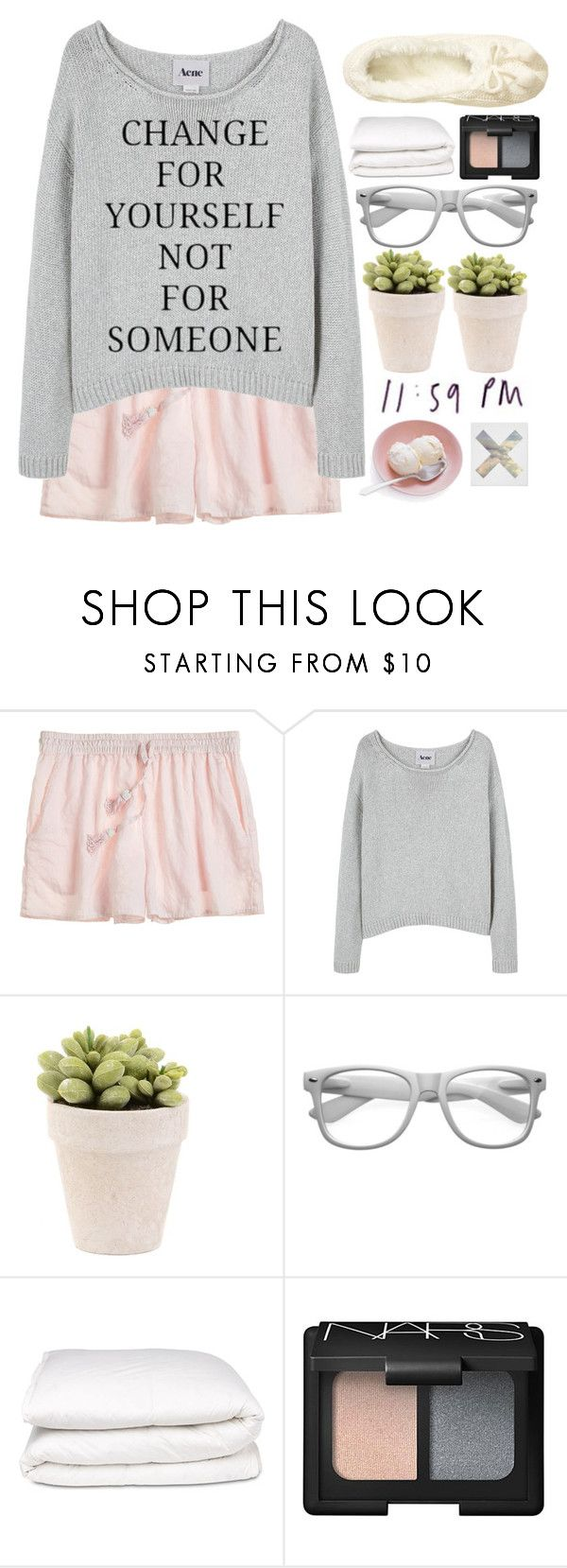 """""""Eugenia"""" by authentically-absurd ❤ liked on Polyvore featuring Calypso St. Barth, Acne Studios, Retrò, Selfridges, NARS Cosmetics and H&M"""