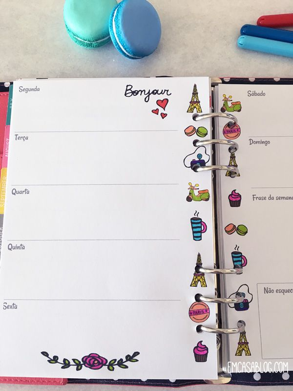 DOWNLOAD: PLANNER SEMANAL PARA COLORIR