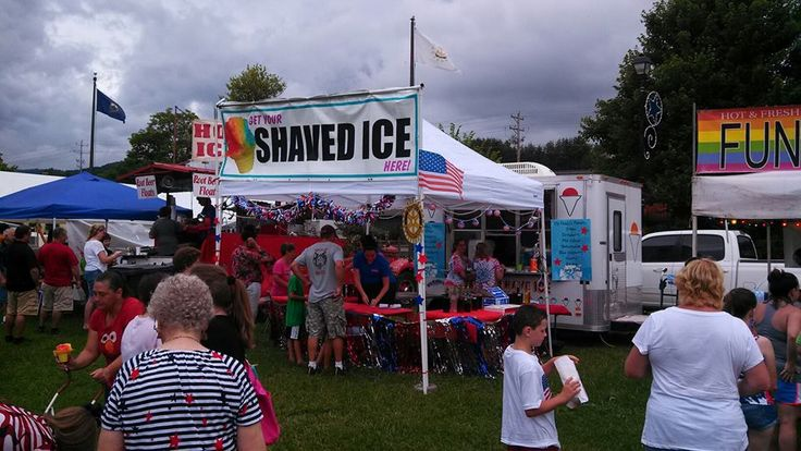 Shaved ice is a great treat on a hot summer day like we had at Patriot Festival.