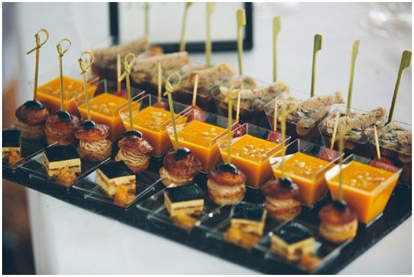 French wedding catering, canapes | Image by Craig George Photography