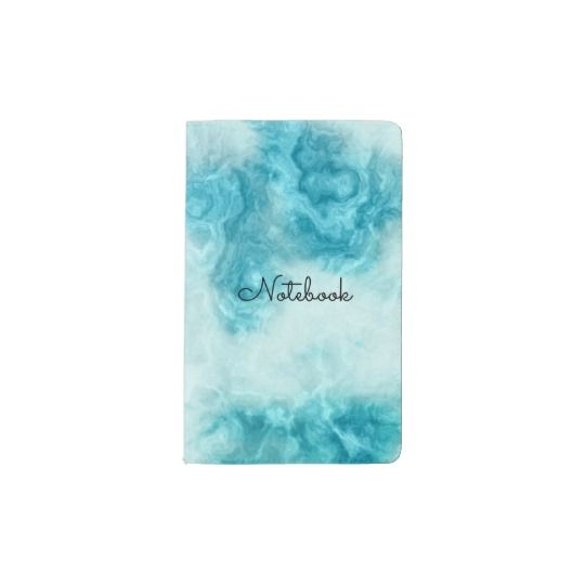 """Beautiful blue Marble texture and pattern personalize MOLESKIN Notebook, has artsy feel, available on zazzle.com for ($25), perfect gift for anyone, This fully customizable  notebook will be your personal style statement everywhere you and your thoughts go!  Specifications -   - Dimensions: 5.75"""" l x 3.75"""" w  - Available in two additional sizes  - MOLESKINE® Cahier Pocket      Notebook with soft covers and 64     ruled pages  - Made from sustainable    Eco-friendly material, sealed with…"""