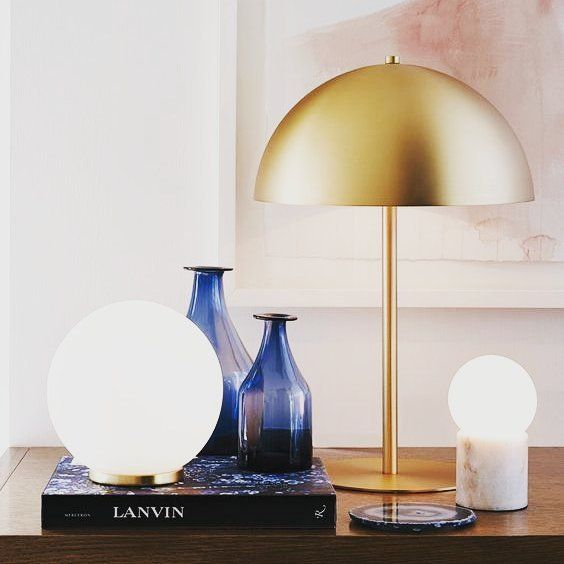 #Decorate your #nightstand with #tablelamps for the perfect blend between functionality and aesthetics. This beautiful Mondo round #tablelamp along with the innovative little round #lightglobes is a true #decor & #styling inspiration. By @beaconlighting  shared via @rebecca_ellie_studio  on @pinterest  #nightstand #tabledecor #decorinspiration #modernhomes #homedecor #luxurylamps #interiorstyling #interiordecor #interiordesigning #homefurniture #lightglobes #brasslamps #white…