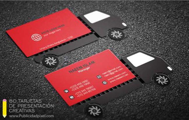 tarjetas de presentacion creativas para choferes
