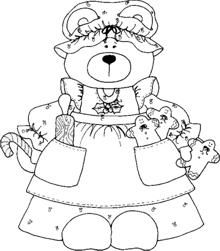 teddy bear gymnastics coloring pages - photo#9