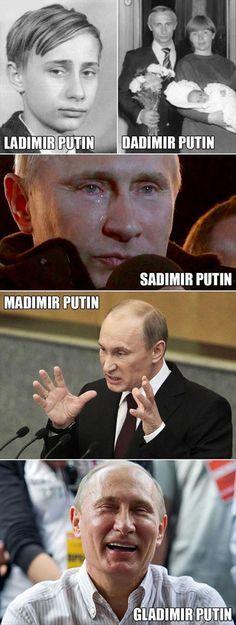 The many identities of Russian President Vladimir Putin.