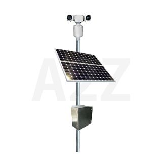Solar Power Thermal Dual Sensor HD PTZ Camera System with 4G uplink, and on-board NVR delivers unfailing surveillance.