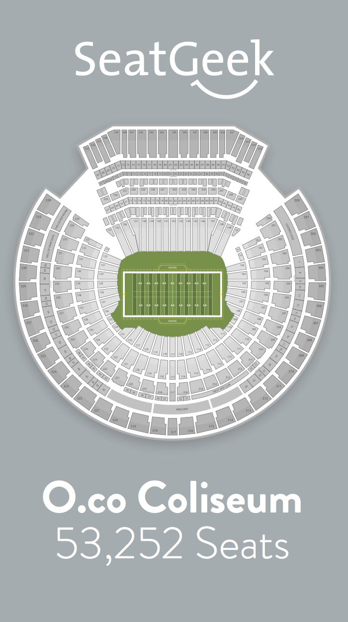 Find the best deals on Oakland Raiders tickets and know exactly where you'll sit with SeatGeek.