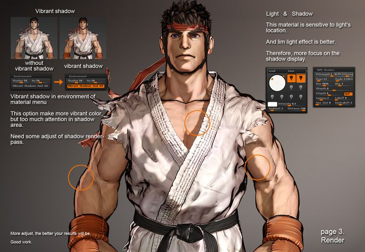 Ryu 3D WIP by georgius In this post you will see Ryu 3D WIP by georgius. We are showing images of th