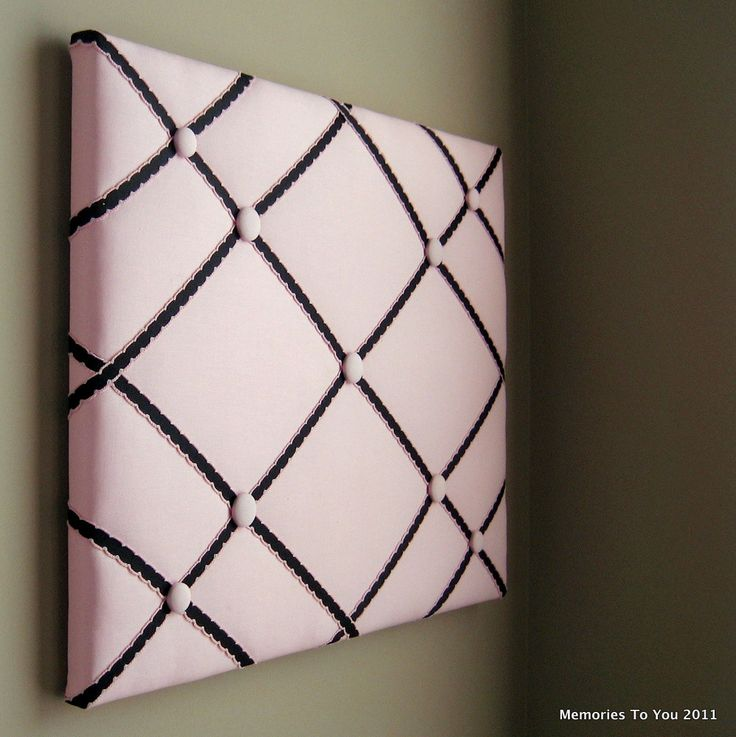 "16""x20"" Memory Board or Bow Holder-Pink & Black"