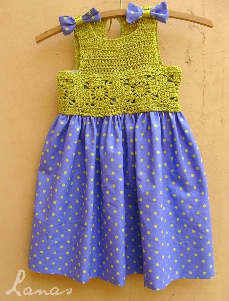 Sidney Artesanato: Palinhas para vestido de crochet.