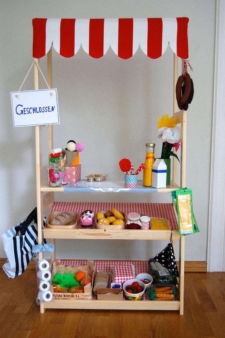 kaufladen marktstand kaufmannsladen selber bauen selbst gebaut diy kinderzimmer pinterest. Black Bedroom Furniture Sets. Home Design Ideas
