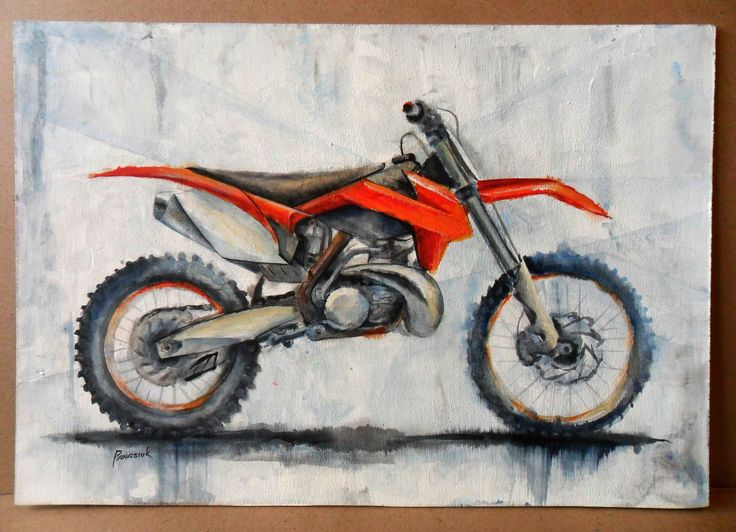 Acrylic-color, moto, #motoart, #mx, #mx_art, #motocross, #moto_painting, #ktm, hand_drawing