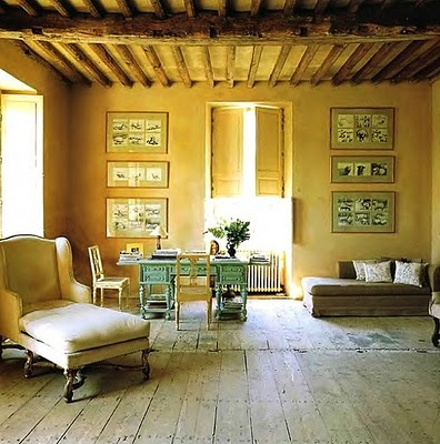 a lovely deskCountry French, House Design, Living Spaces, Country House, Living Room, French Country, Classic Living, Ceilings, French Furniture