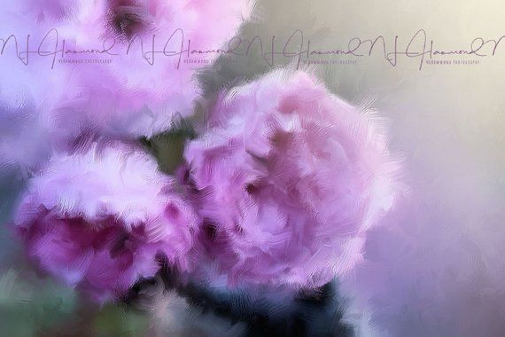 Pink And Lavender Flowers Digital Painting Printable Wall Art Print Floral Print Flower Painting Bedroom D Floral Oil Paintings Pink Flower Painting Floral Oil