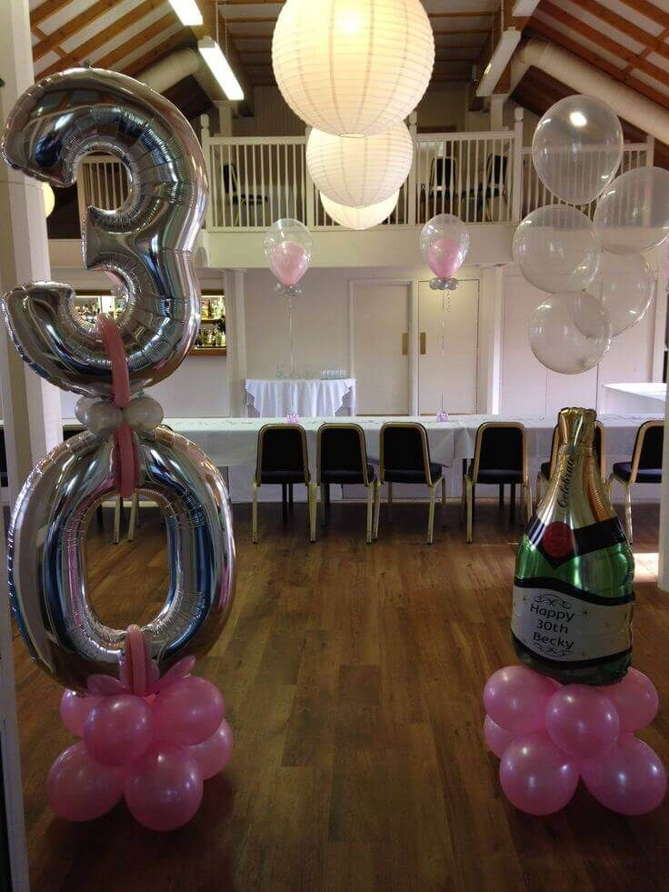 Balloon Column Ke's 21st in 2019 Champagne balloons